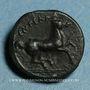 Coins Sicile. Entella. Mercenaires Campaniens. Bronze, vers 342-339 av. J-C
