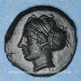 Coins Sicile. Entella. Vers 420-410/404 av. J-C. Bronze