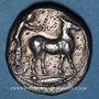 Coins Sicile. Messine (425-421 av. J-C). Tétradrachme
