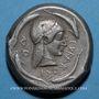 Coins Sicile. Syracuse. Tétradrachme, vers 480 av. J-C