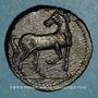 Coins Zeugitane. Carthage. Double shekel de bronze, vers 221-210 av. J-C
