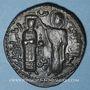Coins al-Jazira. Ortoquides de Mardin. Nejm ed-Din Alpi (547-572H). Dirham bronze