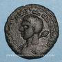 Coins al-Jazira. Zenguides de Sinjar. Qutb al-Din Muhammad (594-616H).  Dirham bronze 596H, Sinjar