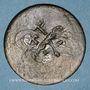 Coins Balkans. Ottomans. Agiasos ou Asomatos  (Lesbos). Bronze, 20 Para 1255H contremarqué