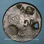 Coins Balkans. Ottomans. Plomarion (Lesbos). Bronze, 40 Para 1255H,  contremarqué et  daté 1308H sous Abdo