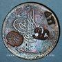 Coins Balkans. Ottomans. Plomarion (Lesbos). Bronze, 40 Para 1277H / An 4,  contremarqué et  daté 1308H so