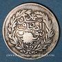 Coins Maghreb. Ottomans. Abdul 'Aziz (1277-1293H), avec le Bey Muhammad as-Sadiq. 2 piastres 1290H (cont