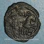 Coins Palestine. Umayyades, vers 115-125H. Fals anonyme au protomé de cheval