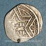 Coins Syrie. Ayyoubides d'Alep. al-Zahir (582-613H). Ar. 1/2 dirham (591H ou 593-594H), (Alep)