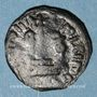 Coins Syrie. Monnayage arabo-byzantin. Umayyades. 'Abd al-Malik (65-86H). Fals au calife debout, Homs
