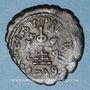 Coins Syrie. Monnayage arabo-byzantin. Umayyades. 'Abd al-Malik (65-86H). Fals au calife debout, Qinnasrin