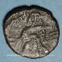 Coins Syrie. Monnayage arabo-byzantin. Umayyades. 'Abd al-Malik (65-86H). Fals au calife debout, Qurus