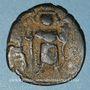 Coins Syrie. Monnayage arabo-byzantin. Umayyades. Epoque  Mu'awiya (41-60H). Fals bilingue, Emèse