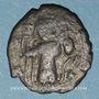 Coins Syrie. Monnayage pseudo-byzantin (638-c.670). Follis contremarqué, figure impériale debout