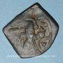 Coins Syrie. Monnayage pseudo-byzantin (638-c.670). Follis, figure impériale debout