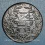 Coins Tunisie. Ottomans. Abdoul Mejid (1255-1277H = 1839-1861). 6 nasri 1266H (= 1849). Tunis