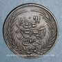 Coins Tunisie. Ottomans. Abdoul Mejid (1255-1277H = 1839-1861). 6 nasri 1269H (= 1852). Tunis