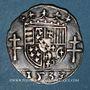 Coins Duché de Lorraine. Antoine (1508-1544). 1/4 teston 1538, Nancy