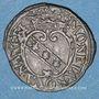 Coins Duché de Lorraine. Charles et Nicole (1624-25). Demi-gros n. d. Nancy