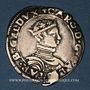 Coins Duché de Lorraine. Charles III (1545-1608). 1/4 teston au buste enfantin. 1554. Nancy