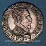 Coins Duché de Lorraine. Charles III (1545-1608). Teston au buste âgé (1582-1608). Nancy