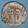 Coins Duché de Lorraine. Charles IV, 1er règne (1625-1634). Double denier. Nancy