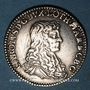 Coins Duché de Lorraine. Charles IV, 2e règne (1661-1670). Demi-teston 1664. Nancy