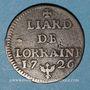 Coins Duché de Lorraine. Léopold I (1697-1729). Liard 1726. Nancy