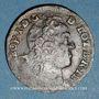Coins Duché de Lorraine. Léopold I (1697-1729). Liard 1728. Nancy