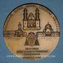 Coins Algérie. Mgr. A. F. Leynaud, archevêque d'Alger. 1950. Médaille bronze. 59 mm. Gravée par R.B. Baron