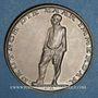 Coins Allemagne. 3e reich. Référendum sur le statut de la Sarre. 1935. Médaille argent