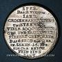 Coins Allemagne. Saxe. Famine de 1772. Médaille étain. Gravée par Christian Reich