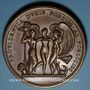 Coins Anne de Montmorency. Connétable de France (1538-1567). Médaille bronze. Frappe de restitution