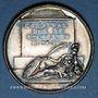 Coins Armand Jean du Plessis, cardinal de Richelieu (1585-1642). Médaille argent gravée par Dassier