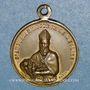 Coins Augustin d'Hippone ou Saint Augustin (354-430). Hyppone (Algérie). 1842. Médaille bronze