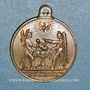 Coins Baptême du Prince Impérial. 14.6.1856. Médaille cuivre jaune