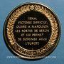 Coins Bataille d'Iéna. 1806. Médaille vermeil. Frappe moderne !