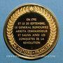 Coins Bataille de Valmy. 1792. Médaille vermeil. Frappe moderne !