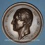 Coins Belgique. Léopold I. 25e anniversaire de règne. 21.7.1856. Médaille cuivre. 75 mm