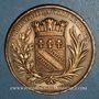 Coins Charles X (1824-1830). Visite de Troyes, 17 septembre 1828. Médaille bronze. 41,3 mm