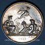 Coins Chemin de fer St Etienne à Lyon 1826, médaille argent 36,5 mm. Tiolier. Poinçon : main indicatrice