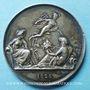 Coins Chemin de fer St Etienne à Lyon. 1826. Médaille en argent. 36,5 mm. Tiolier. Poinçon : lampe antique