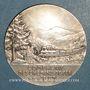 Coins Compagnie des Chemins de fer de l'Est. Médaille en argent. 41 mm. Gravée par Vernon
