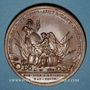 Coins Courlande. Victoires de Maurice de Saxe (1696-1750). Médaille bronze. 1747