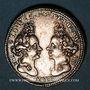 Coins Danemark. Anniversaire des princesses Louise de Mecklenbourg et Sophie Edwige du Danemark. 1699. Arg