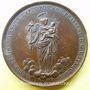 Coins Fondation du séminaire de St Sulpice. 1820. Médaille en bronze. 41 mm