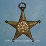 Coins Franc-maçonnerie. Dôle (Jura). Philantropie Val d'Amour. Insigne. Bronze doré