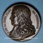 Coins Henri de la Tour d'Auvergne, dit Turenne (1611-1675). 1683. Médaille bronze. 40,9 mm