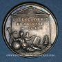 Coins Jean-François Sarrasin, poète (1604-1654). Médaille argent gravée par Dassier