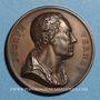Coins Joseph Vernet (1714-1789), peintre français. 1818. Médaille bronze